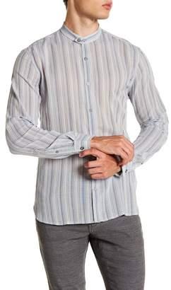 John Varvatos Collection Band Collar Slim Fit Shirt