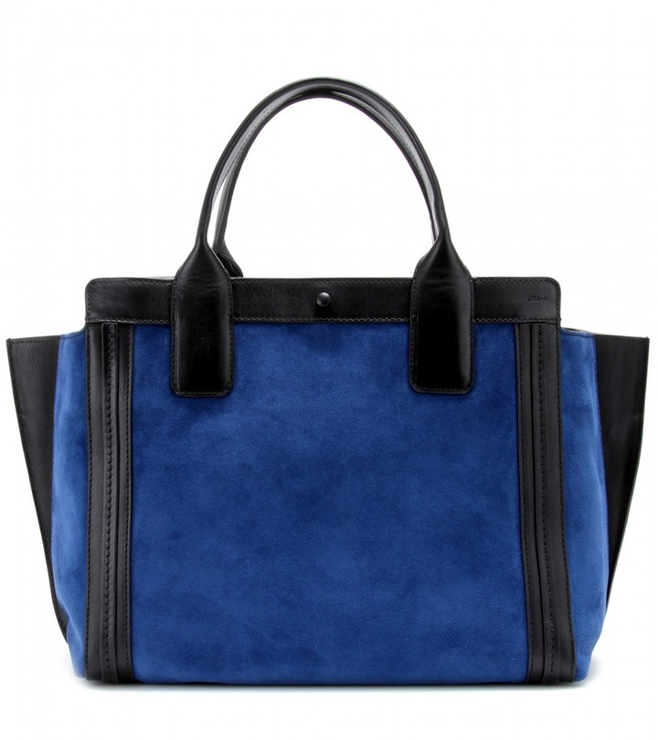 Chloé Alison Small East/West suede tote