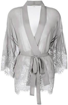 Gold Hawk lace kimono
