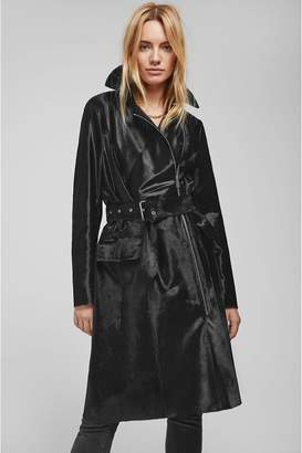 Anine Bing Maxwell Leather Trench - Black