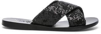 Ancient Greek Sandals Sequin Thais Sandals