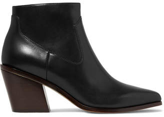 Rag & Bone Razor Leather Ankle Boots - Black