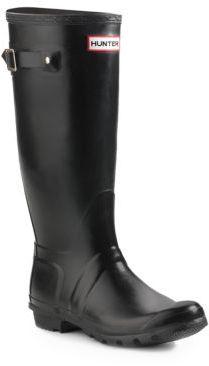 Hunter Original Tall Matte Rain Boots $150 thestylecure.com