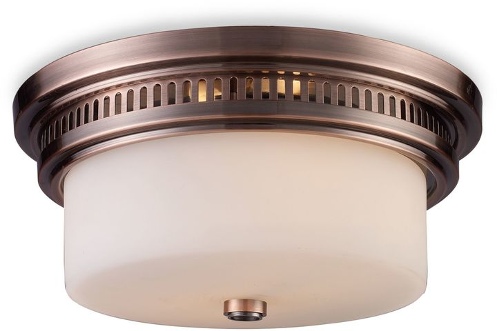 Bed Bath & Beyond ELK Lighting Chadwick 2-Light Flush Mount in Antique Copper