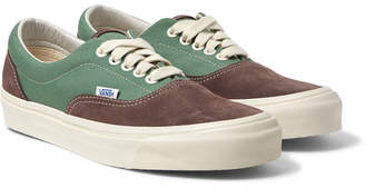 Vans UA OG Era LX Canvas and Suede Sneakers - Men - Gray green