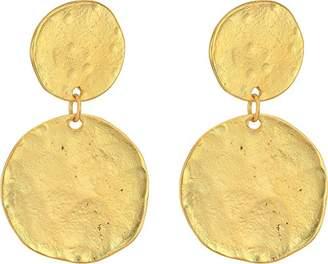 Kenneth Jay Lane Women's Coin Double Drop Pierced Ear Earrings