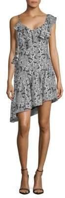 Parker Floral Ruffle One-Shoulder Dress
