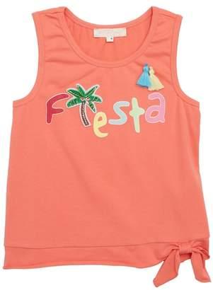Truly Me Fiesta Side Tie Tank (Toddler Girls & Little Girls)