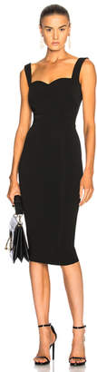 Victoria Beckham Dense Rib Cami Fitted Dress