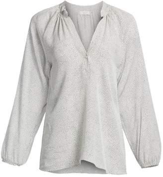 A.L.C. Jules Dot Pattern Silk Blouse