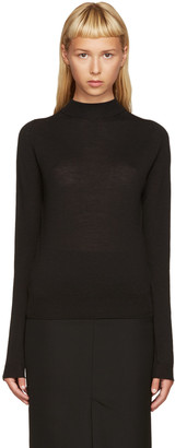 Rick Owens Black Biker Lupetto Sweater $460 thestylecure.com