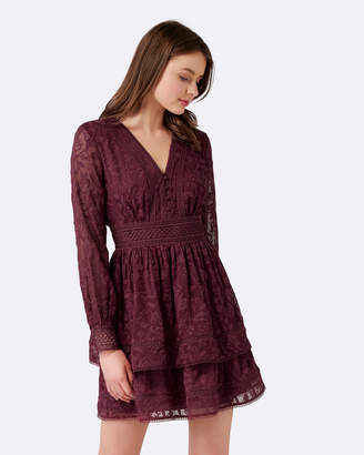 Forever New Marissa Lace Trim Dress