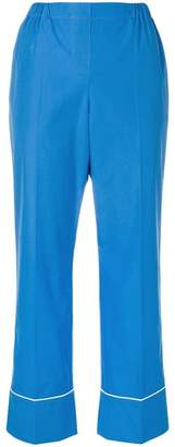 No.21 cropped pyjama-style trousers