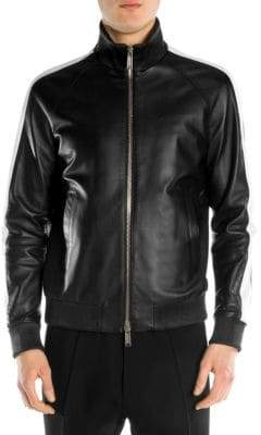 DSQUARED2 Leather Zip-Front Jacket
