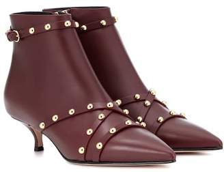 RED Valentino Leather ankle boots