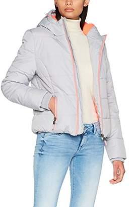 Superdry Women's G50010LPF4 Sports Jacket, (Light Grey Marl Fluro Coral), ((Size: Small)