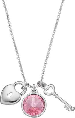 Charming InspirationsHeart Lock & Key Charm Necklace