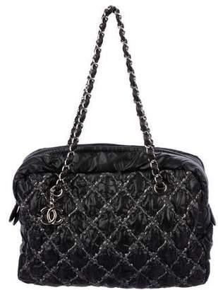 Chanel Tweed On Stitch Bowler Bag