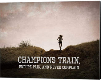 Champions Train Woman Color By Sports Mania Canvas Art