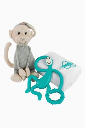 Boys Matchstick Monkey Teething Gift Set - Green - Green
