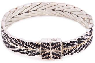 John Hardy Sapphire spinel silver weave effect link chain bracelet