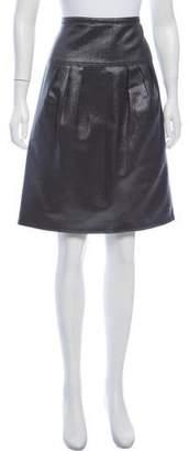Burberry Metallic Knee-Length Skirt