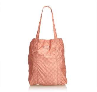 Gucci Vintage Guccissima Teddy Bear Folding Shopping Bag
