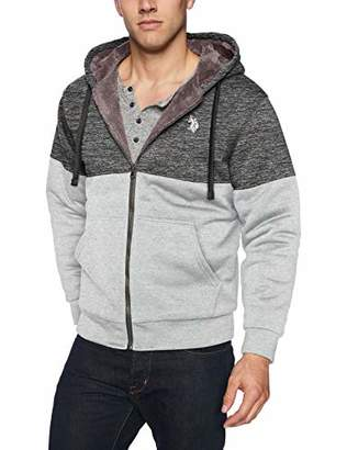 U.S. Polo Assn. Men's Color Block Fleece Hoodie