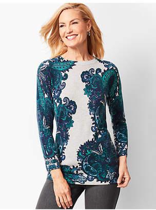 Talbots Audrey Cashmere Sweater - Paisley