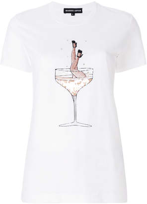 Markus Lupfer Champagne Girl knitted tee
