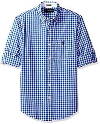U.S. Polo Assn. Men's Long Sleeve Slim Fit Plaid Shirt