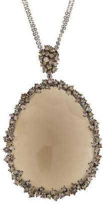 Suzanne Kalan 18K Moonstone & Diamond Pendant Necklace