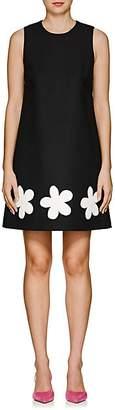 Lisa Perry Women's Fleurty Wool A-Line Dress - Black