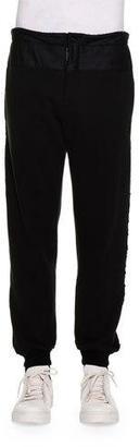 Alexander McQueen Knit Jogger Pants w/Velvet Stripes, Black $845 thestylecure.com