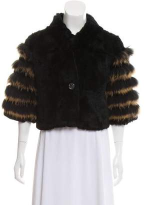 Belle Fare Rex Rabbit & Raccoon Fur Coat w/ Tags