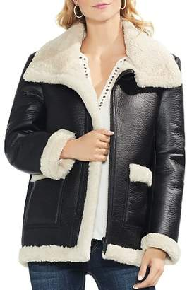 Vince Camuto Faux Shearling Moto Jacket