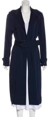 Donna Karan Notched-Lapel Long Coat