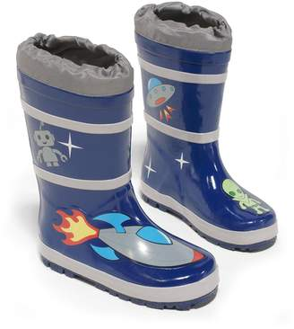Kidorable Space Hero Natural Rubber Rain Boots (Toddler), 6 M US