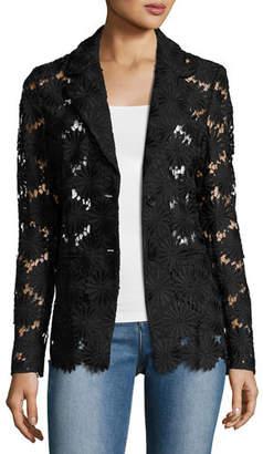 Berek Semisheer Daisy Lace Blazer $218 thestylecure.com