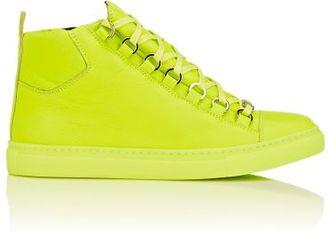 Balenciaga Women's Arena High-Top Sneakers-YELLOW $595 thestylecure.com