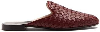 Bottega Veneta Fiandra Intrecciato leather backless loafers