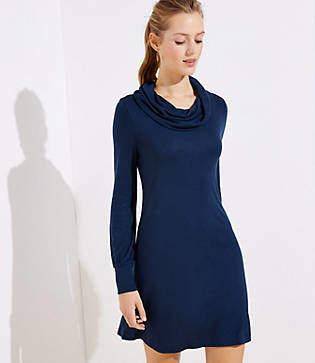 LOFT Petite Cowl Neck Dress