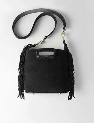 Maje Suede fringe M bucket bag