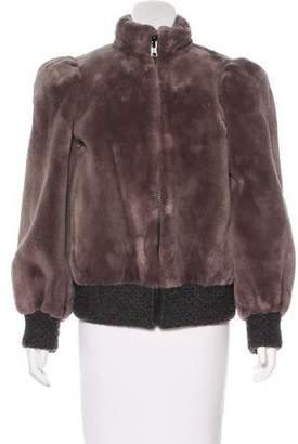 Christian Dior Sheared Mink Bomber Jacket