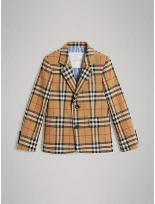 Burberry Vintage Check Cotton Blazer