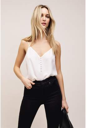 Dynamite Olivia Button Front Cami White Sand