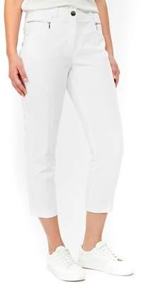 Wallis White Stretch Crop Trousers