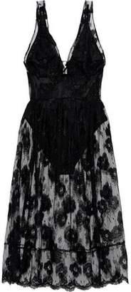Fleur Du Mal Poppy Layered Lace Dress