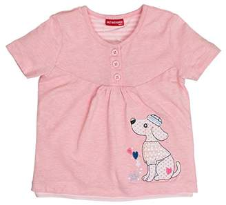 Salt&Pepper Salt and Pepper Baby Girls' B Summer Knöpfe UNI T-Shirt