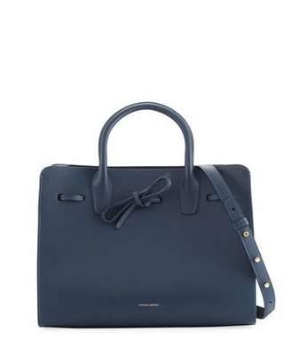 Mansur Gavriel Calf Leather Drawstring Sun Tote Bag, Blue